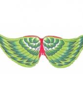 Groene vogel vleugeltjes voor kids