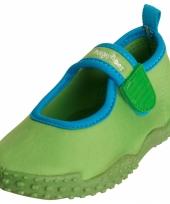 Groene waterschoenen met anti slip zool