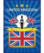 Groot brittannie thema deur posters