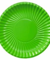 Grote bbq borden groen 29 cm
