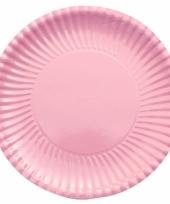 Grote bbq borden lichtroze 29 cm
