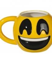 Grote beker lachende emoji 550 ml