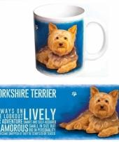 Grote beker yorkshire terrier