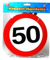 Grote confetti snippers 50 jaar