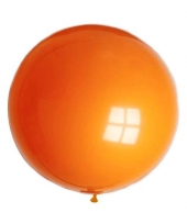 Grote feest ballon oranje 90 cm