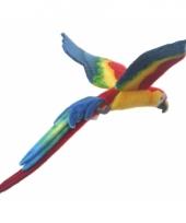 Grote gekleurde papegaai knuffel vliegend 56 cm