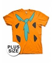 Grote maat feest flintstones t-shirt voor volwassenen