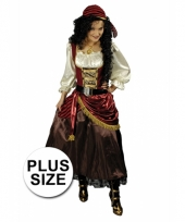 Grote maat verkleed piratenjurk dames