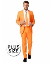 Grote maten business pak oranje