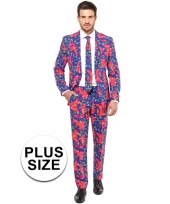 Grote maten business suit met jaren 90 print