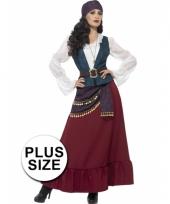 Grote maten piraat dames verkleedkleding