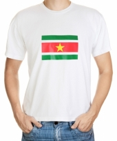 Grote maten t-shirts van vlag suriname