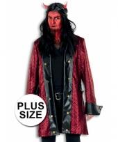 Grote maten verkleedkleding duivel jas