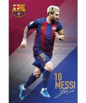Grote poster lionel messi nummer 10 barcelona 61 x 91cm