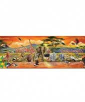 Grote puzzel 100 stukjes safari thema
