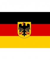Grote vlag duitsland met adelaar 150 x 240 cm