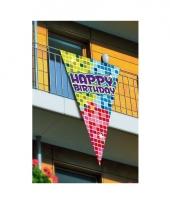 Grote vlag happy birthday 90 x 150 cm