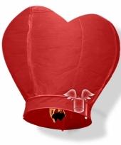Grote wensballon in hartvorm rood 100 cm