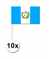 Guatemala zwaai vlaggetjes 10 stuks