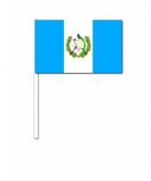 Guatemala zwaai vlaggetjes 12 x 24 cm