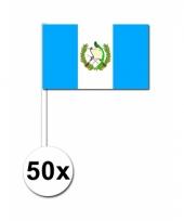 Guatemala zwaai vlaggetjes 50 stuks