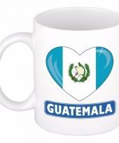 Guatemalaanse vlag hartje koffiemok 300 ml