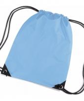 Gymtasjes lichtblauw