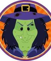 Halloween 10x halloween onderzetters heks