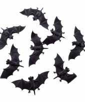 Halloween 8x plastic vleermuizen 10 cm halloween dieren