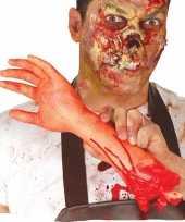 Halloween afgehakte arm met bloed 32 cm