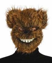 Halloween beren masker met kunstbond