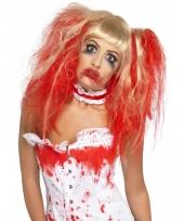 Halloween damespruik bebloed