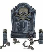 Halloween decoratie kerkhof set 12 delig