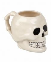 Halloween drinkbeker schedel 10 cm
