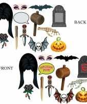 Halloween foto prop set halloween dubbelzijdig 12 delig