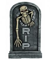 Halloween grafsteen met led ogen