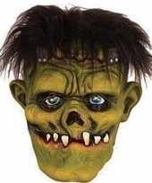 Halloween groen eng halloween frankenstein masker van latex
