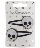 Halloween haarspeldjes met doodshoofden