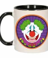 Halloween horror clown mok beker 300 ml
