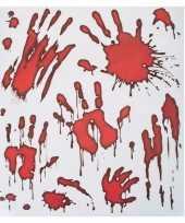 Halloween raamstickers bloedende handafdrukken