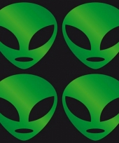 Halloween stickers groen alien