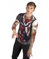 Halloween zombie t-shirt met print