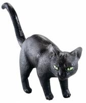 Halloween zwarte kat van rubber