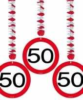 Hangdecoratie 50e verjaardag 9x stuks