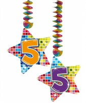 Hangdecoratie 5e verjaardag