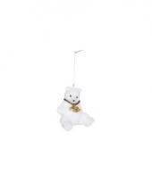 Hangdecoratie ijsbeer 8 cm type 4