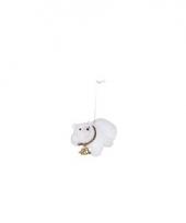 Hangdecoratie ijsbeer 8 cm type 5