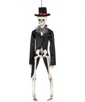 Hangend decoratie skelet bruidegom