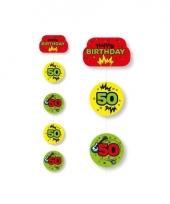 Hangslinger 50e verjaardag geel groen