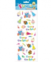 Happy birthday stickervelletje agenda 10081121